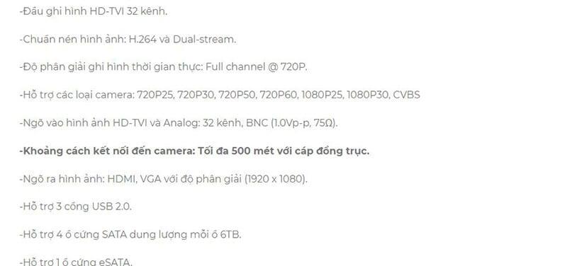 Đầu ghi hình HD-TVI 32 kênh HIKVISION DS-7332HGHI-SH-1