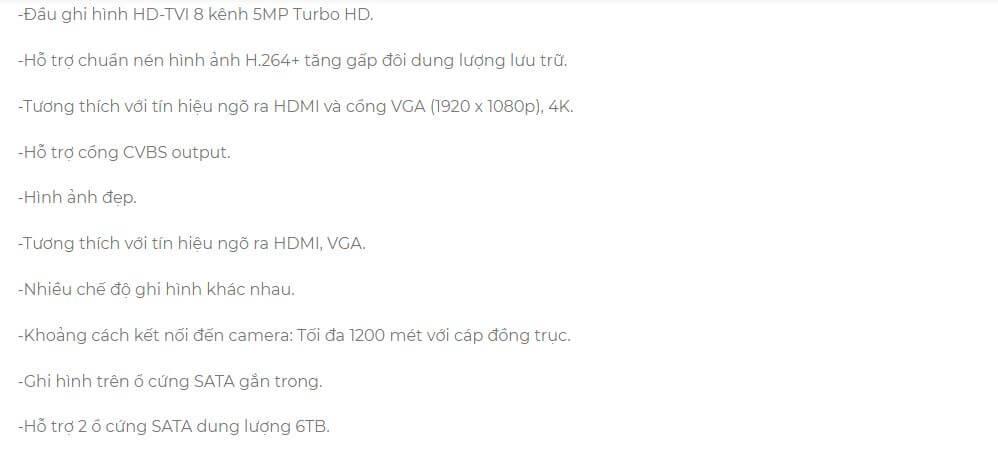Đầu ghi hình HD-TVI 8 kênh TURBO HD 3.0 HIKVISION DS-7208HUHI-F2/S